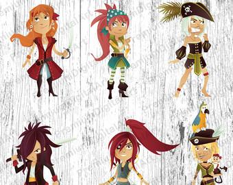 Pirate clipart cartoon pirate Set clipart clipart Kids Kids