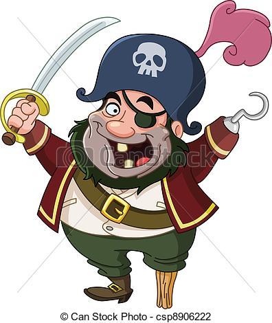Pirate clipart cartoon pirate Search csp8906222 Vector Pirate Cartoon