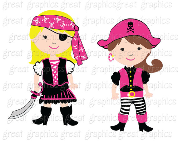 Pirate clipart cartoon pirate Clipart Pirate Paper a Girl
