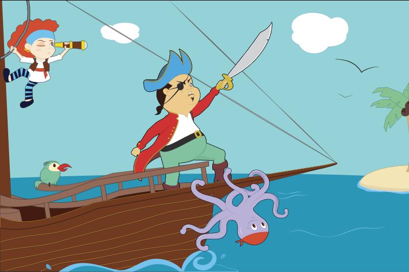 Pirate clipart cartoon pirate & Use Domain Pirate Art