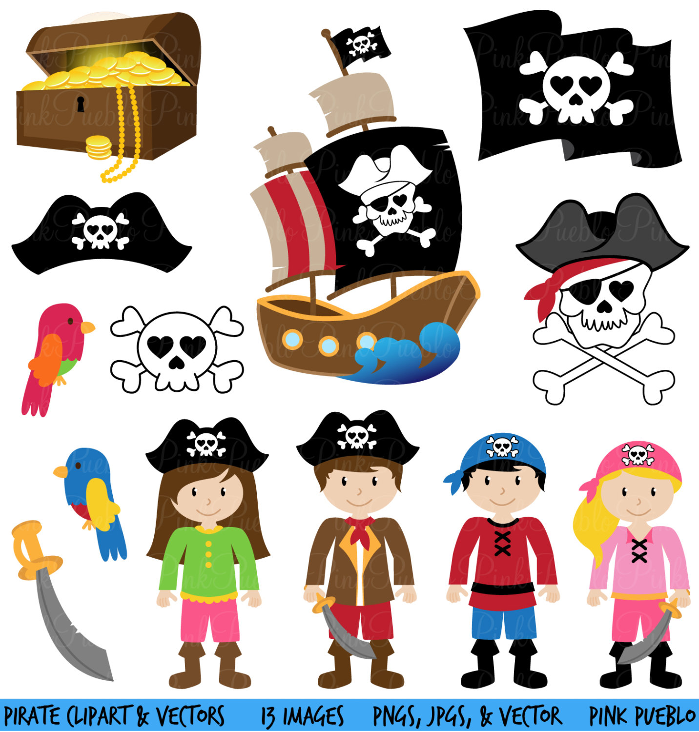 Caribbean clipart vector Pirate free pirate Free project