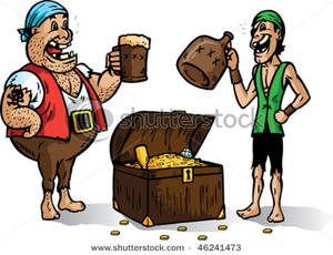 Pirate clipart drinking #1