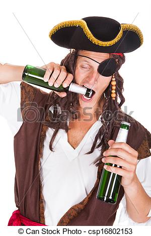 Pirate clipart drinking #10