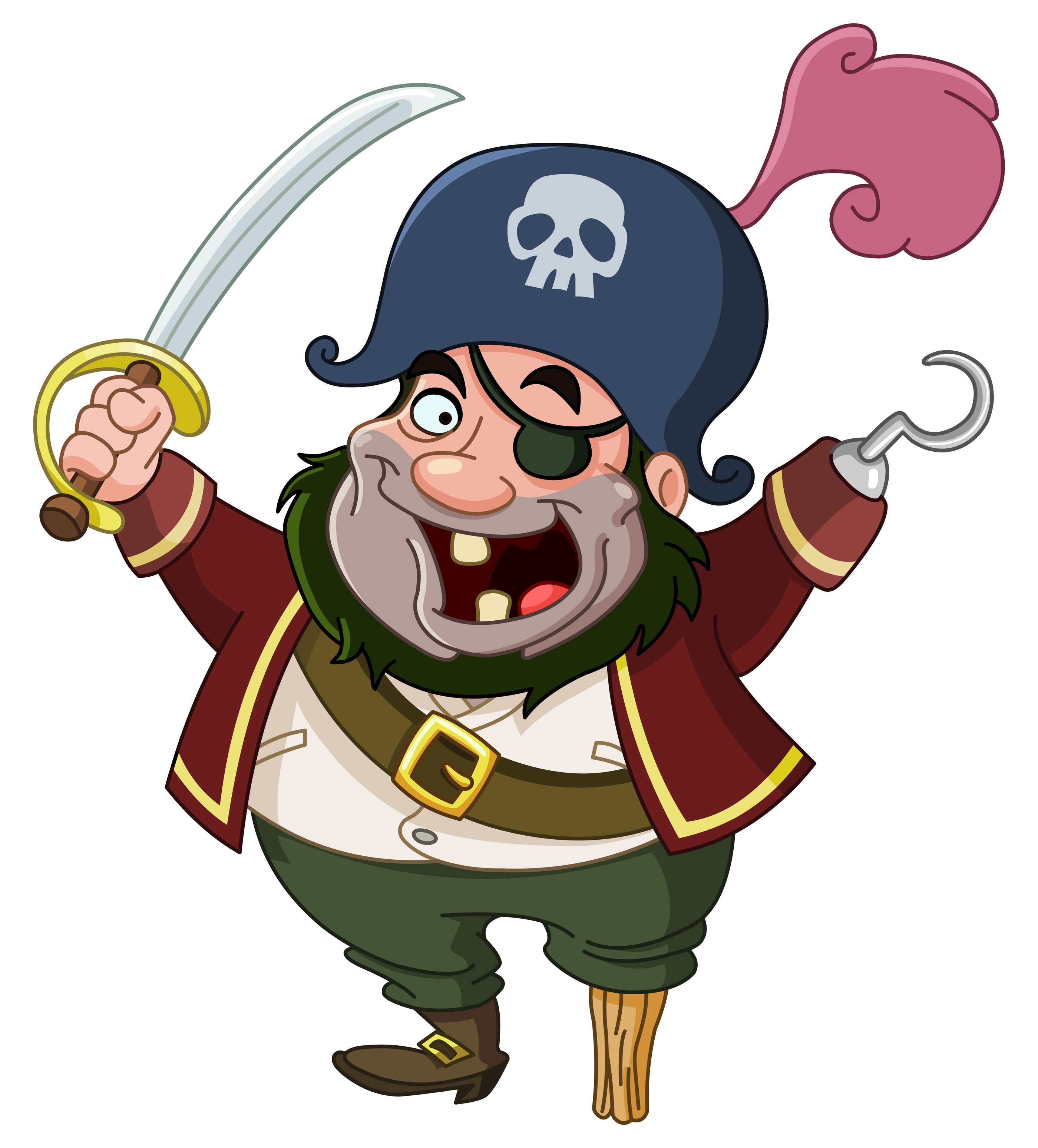 Pirate clipart happy #7