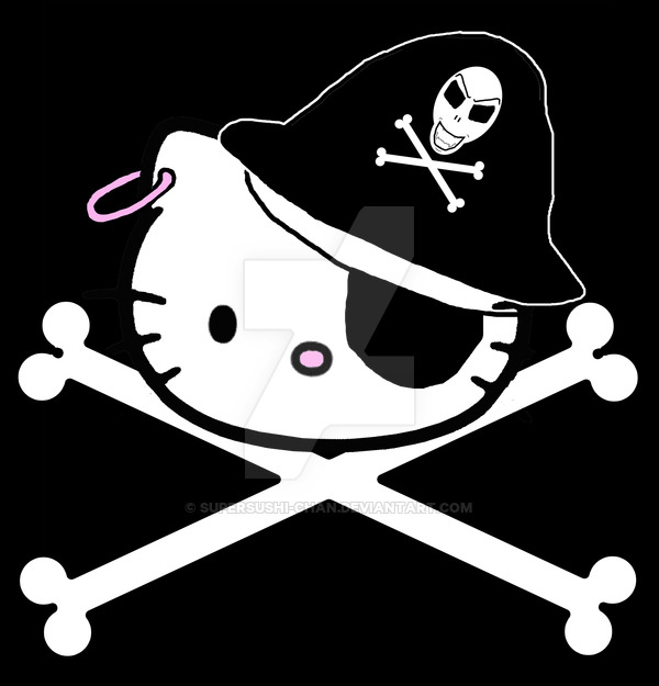 Pirate clipart hello kitty #13