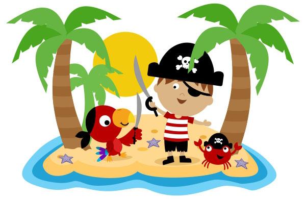 Pirate clipart island #1