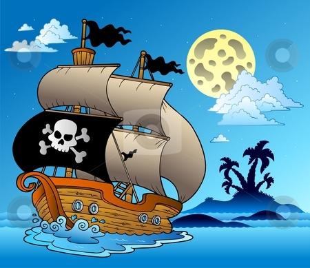 Pirate clipart island #4