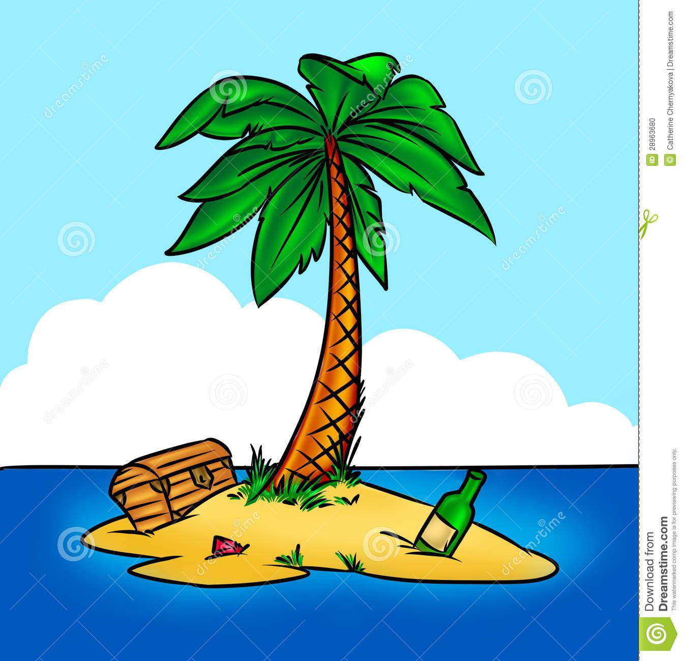 Pirate clipart island #6