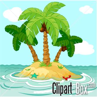 Pirate clipart island #12