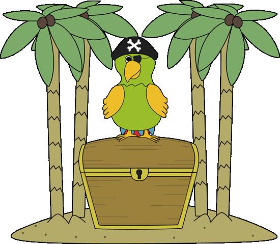 Pirate clipart island #9