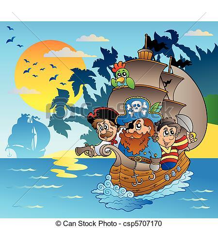 Pirate clipart island #10