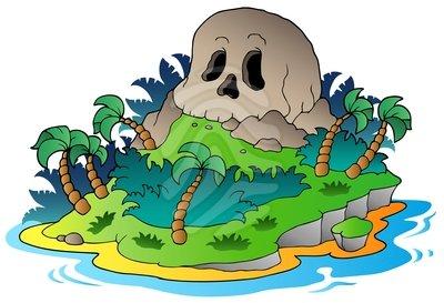 Pirate clipart island #2