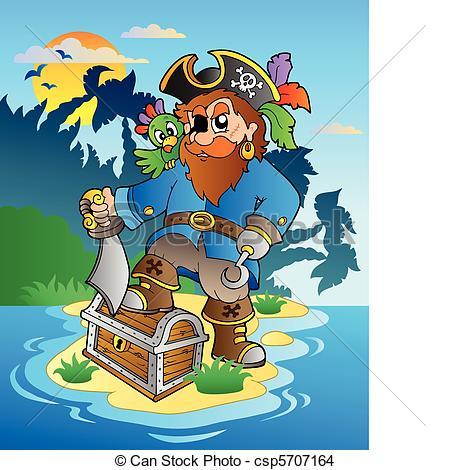 Pirate clipart island #11