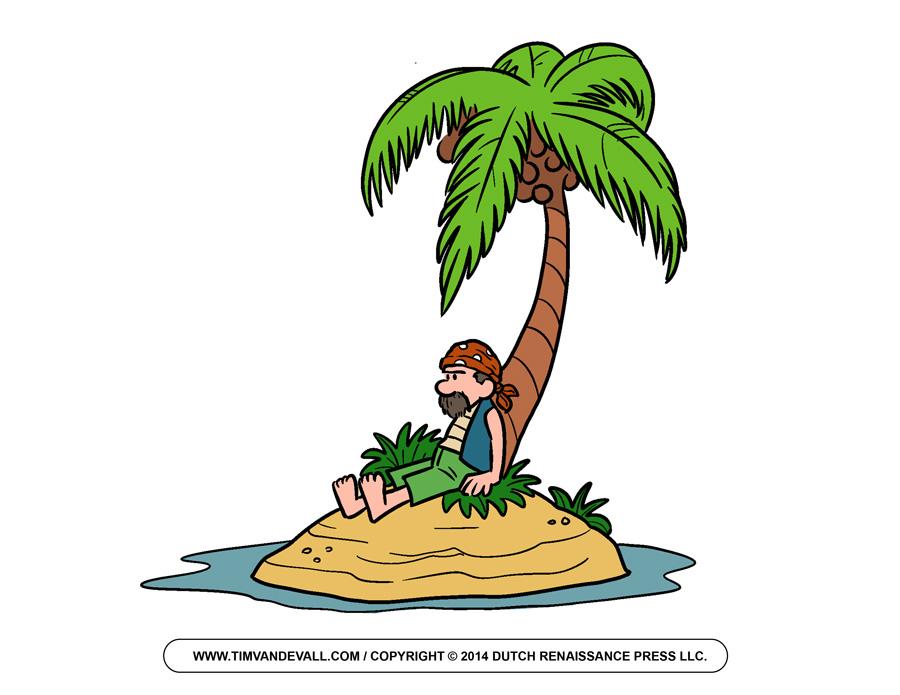 Pirate clipart island #3