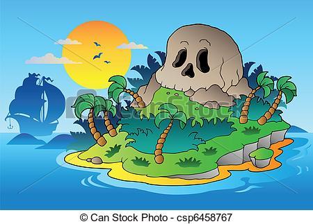 Pirate clipart island #7