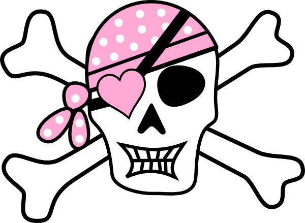 Bones clipart pirate Pirate Bones Cross Clipart Pirate