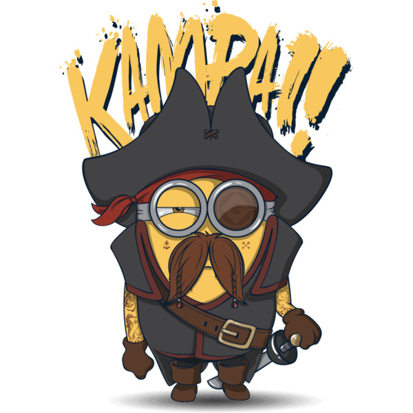 Pirate clipart minion #13