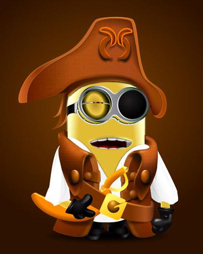Pirate clipart minion #9