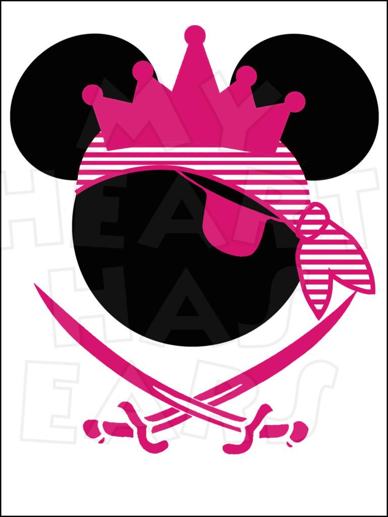 Pirate clipart minnie Pirate digital Princess clip Minnie