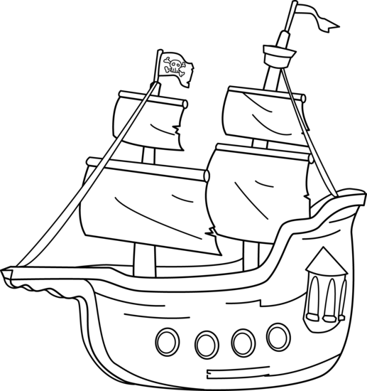 Pirate clipart outline Art outline art clip outline