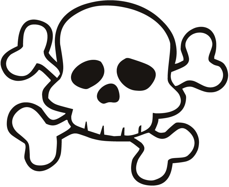 Bones clipart pirate Sticker Skull Pirates Nursery Outline