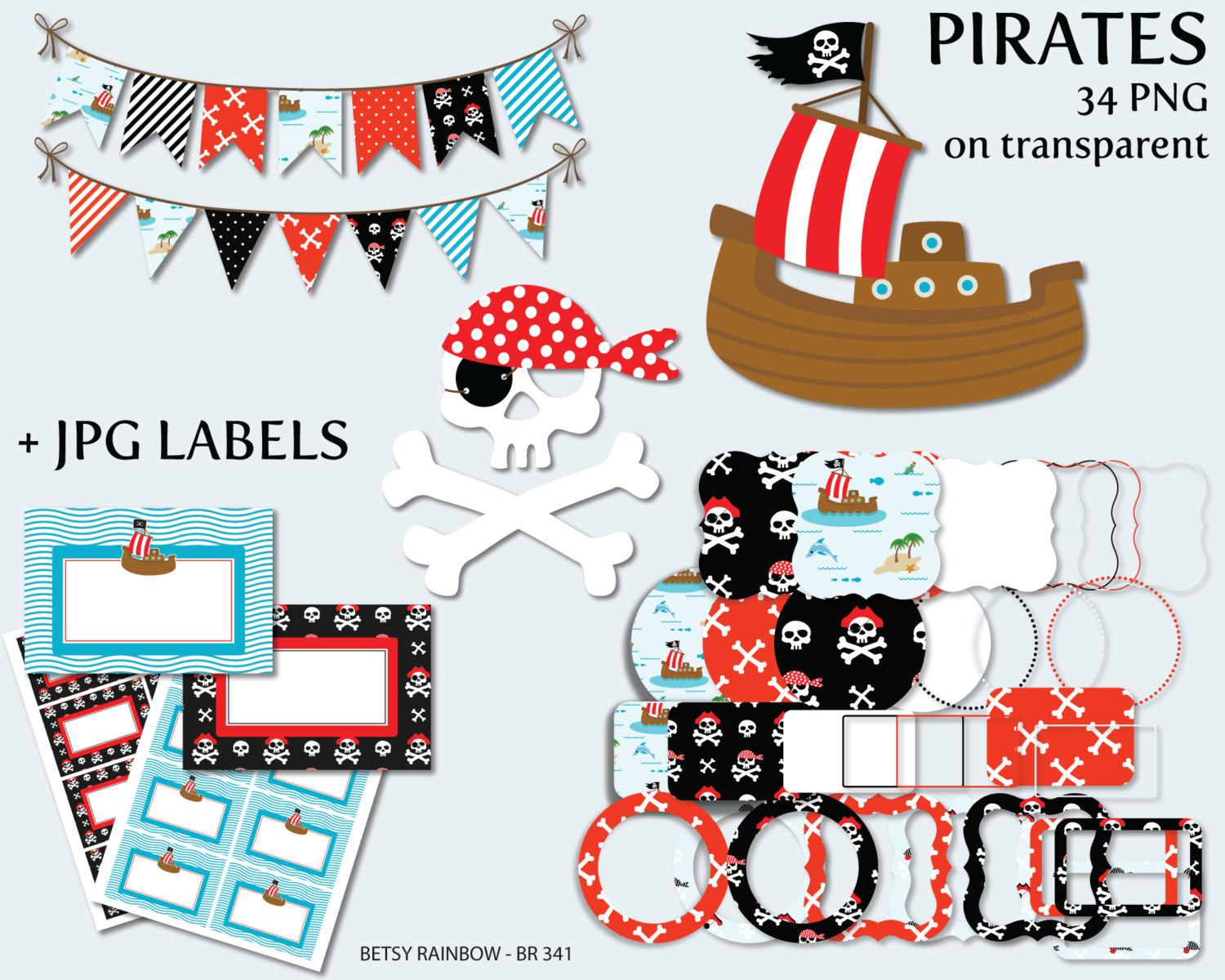 Pirates Of The Caribbean clipart pirate face Pirates pirates digital pirates digital