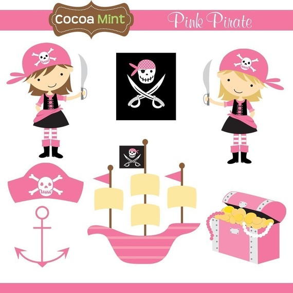 Pirate clipart pink Pink Clip art Pirate and