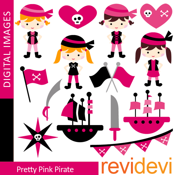 Pirate clipart pink Illustrations Clipart & CRAFTS STORE