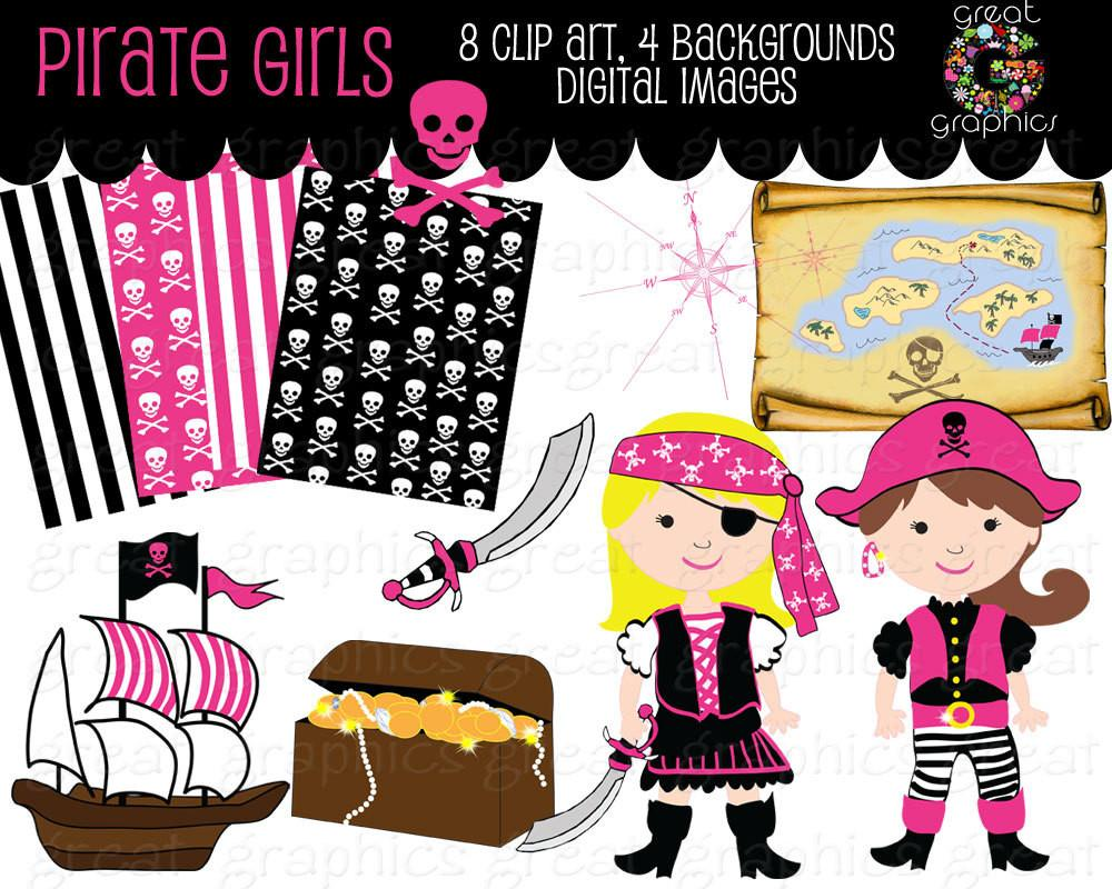 Pirate clipart pink #8