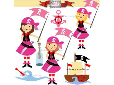 Pirate clipart pink Pink Pink Meylah Girl graphics