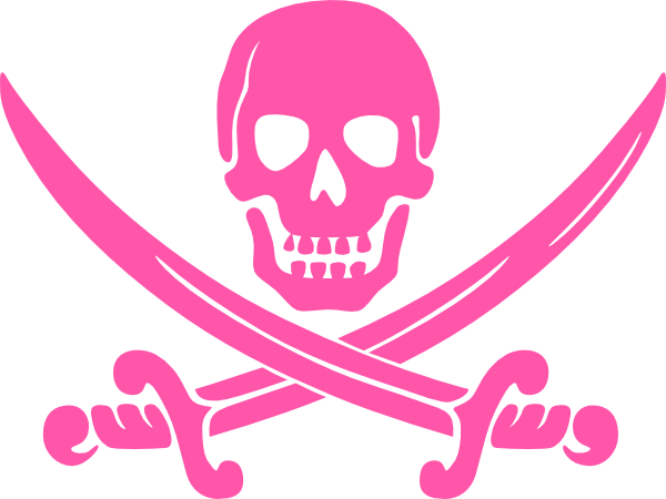 Pirate clipart pink Download clip Clker com Skull