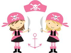 Pirate clipart pink #4