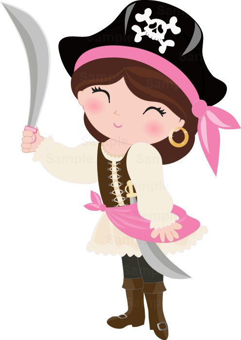 Pirate clipart pink #12