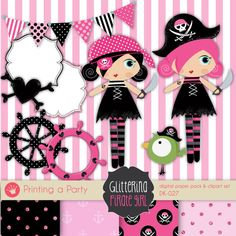 Pirate clipart pink #14