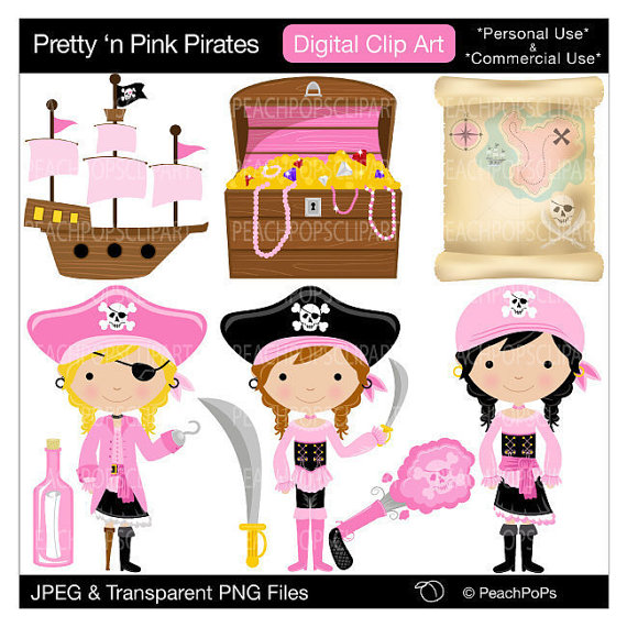 Pirate clipart pink #6
