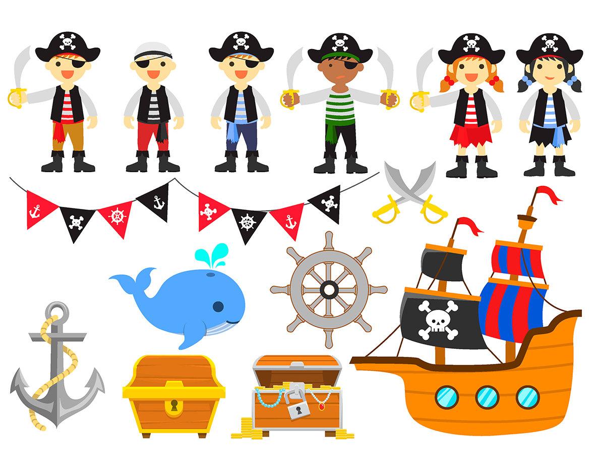 Anchor clipart pirate ship Pirates Set Anchor Clipart