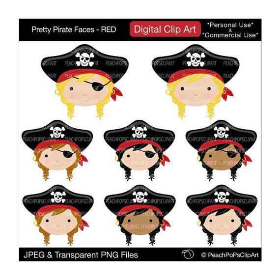 Pirates Of The Caribbean clipart pirate face Cute clip digital art art