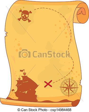 Pirate clipart pirate map #4