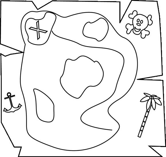 Pirate clipart pirate map #11