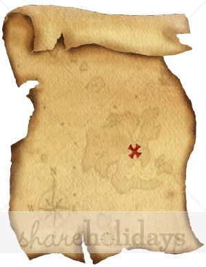 Pirate clipart pirate map Background collection Party clipart map