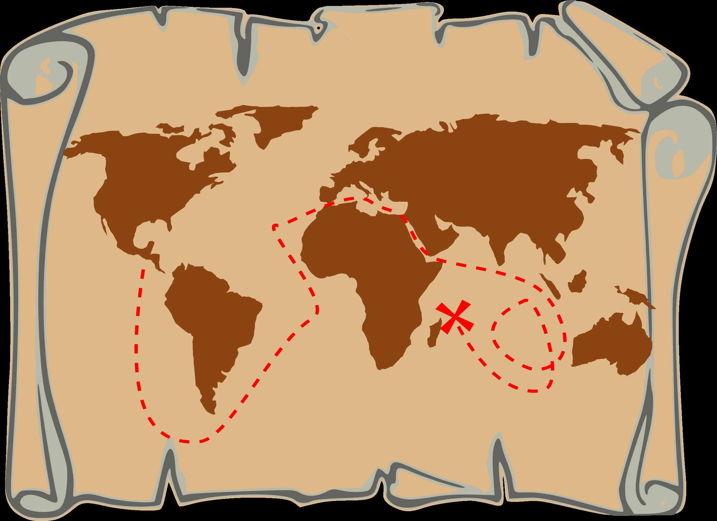 Pirate clipart pirate map #12