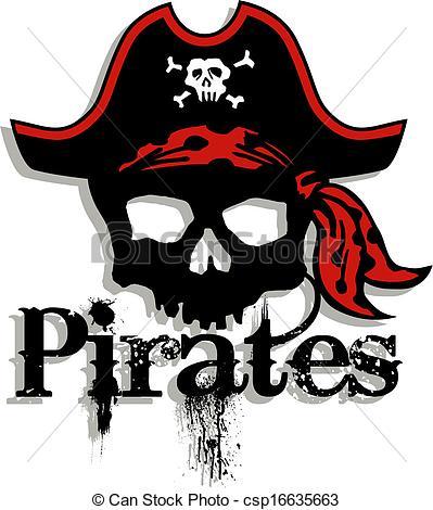 Ssckull clipart pirate skull Clip pirate stock Vector Illustration