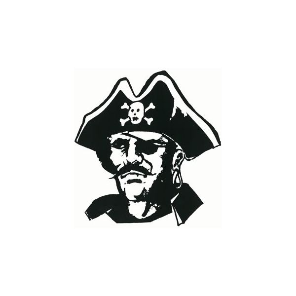 Pirates Of The Caribbean clipart black and white 10 PerkinsPirate08WEB Top Clipart: for