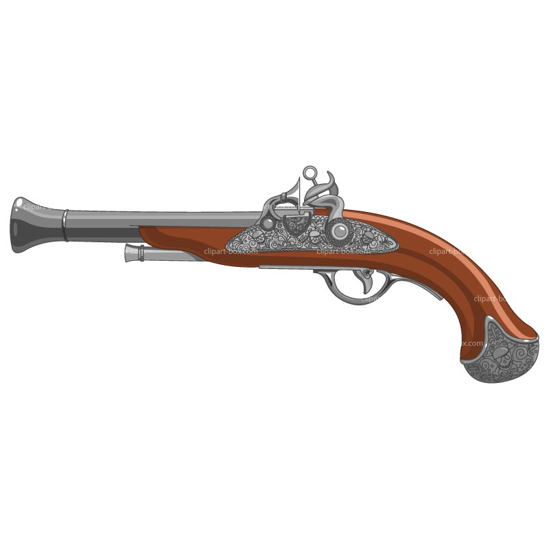 Pirate clipart pistol #4