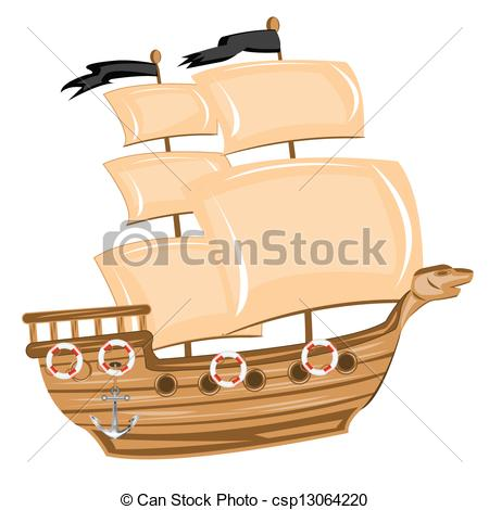 Sailing Ship clipart pirate ship Of Pirate on Illustration