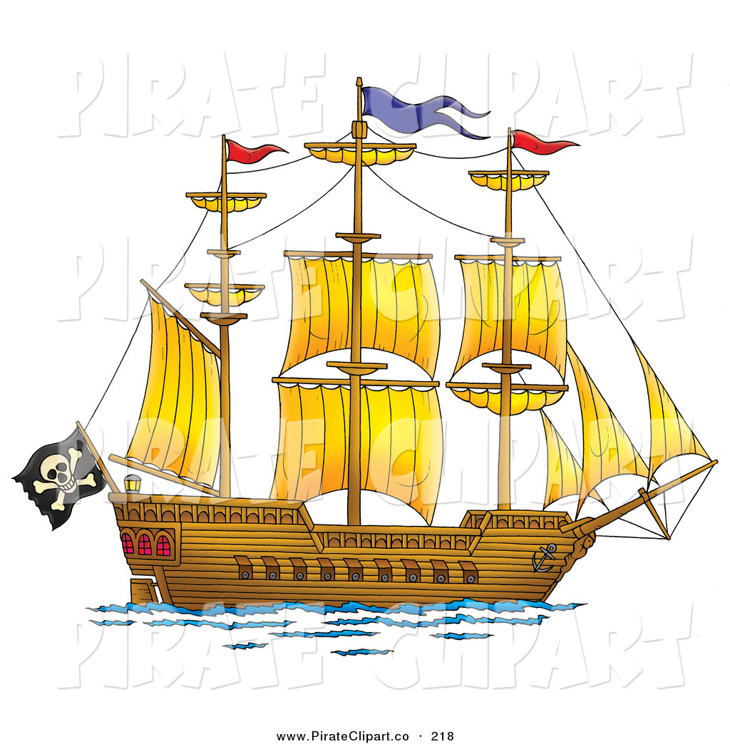 Sailing Ship clipart pirate ship Pirate and on Ship Sails
