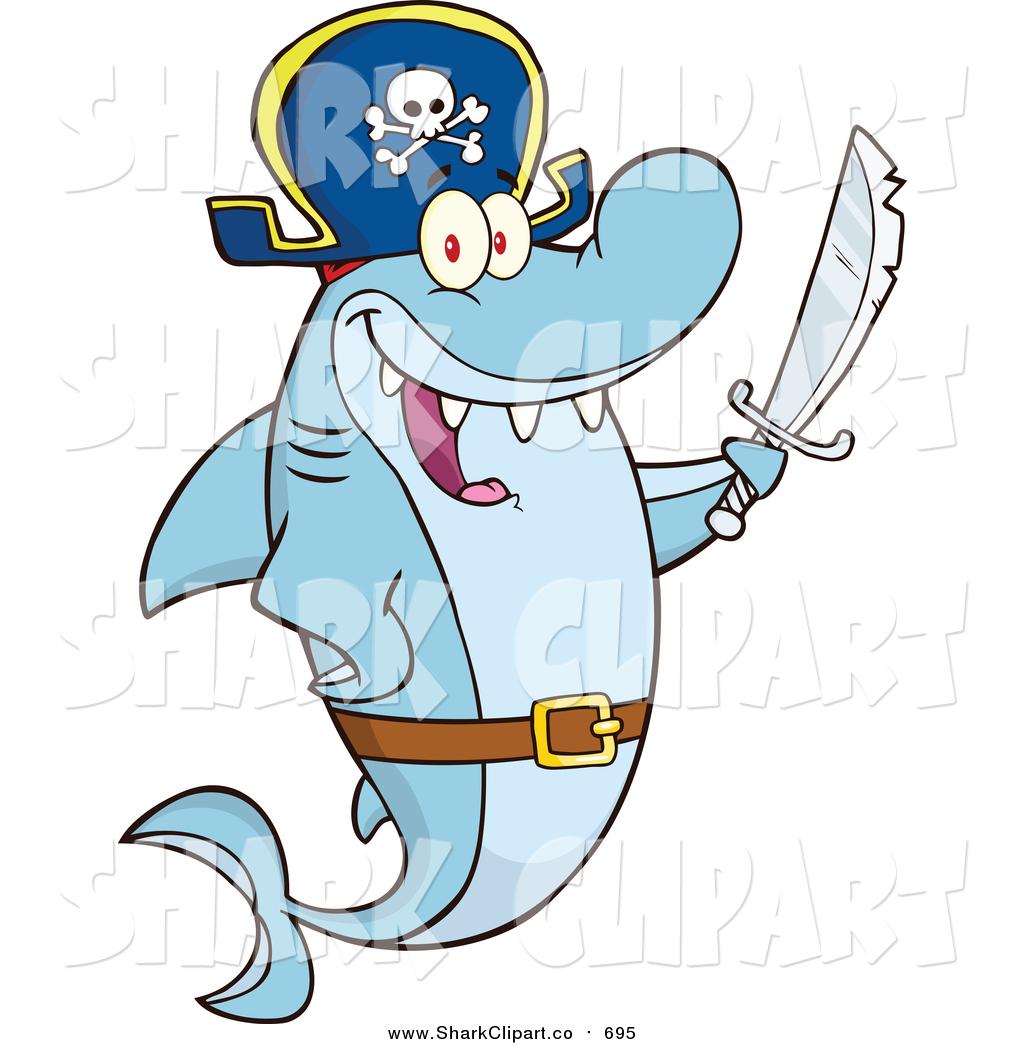 Pirate clipart shark #4