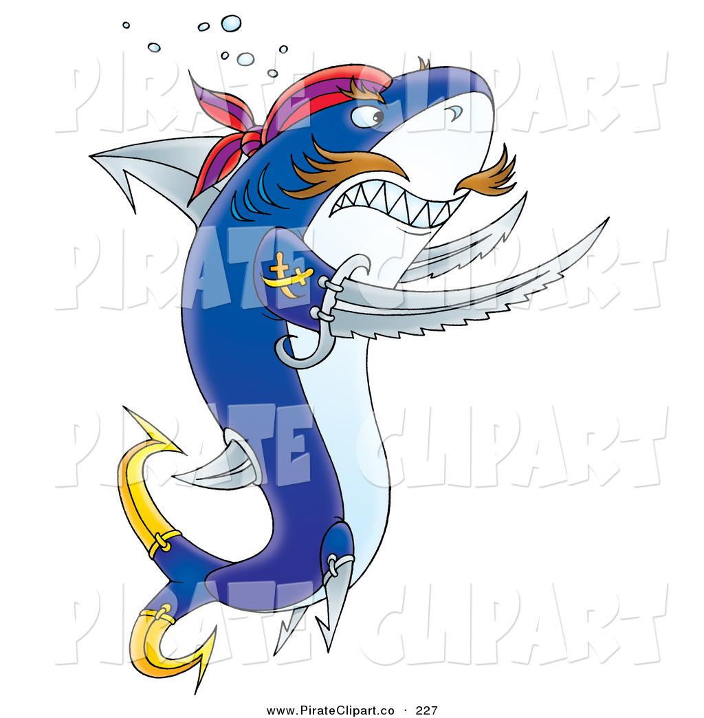 Pirate clipart shark #3