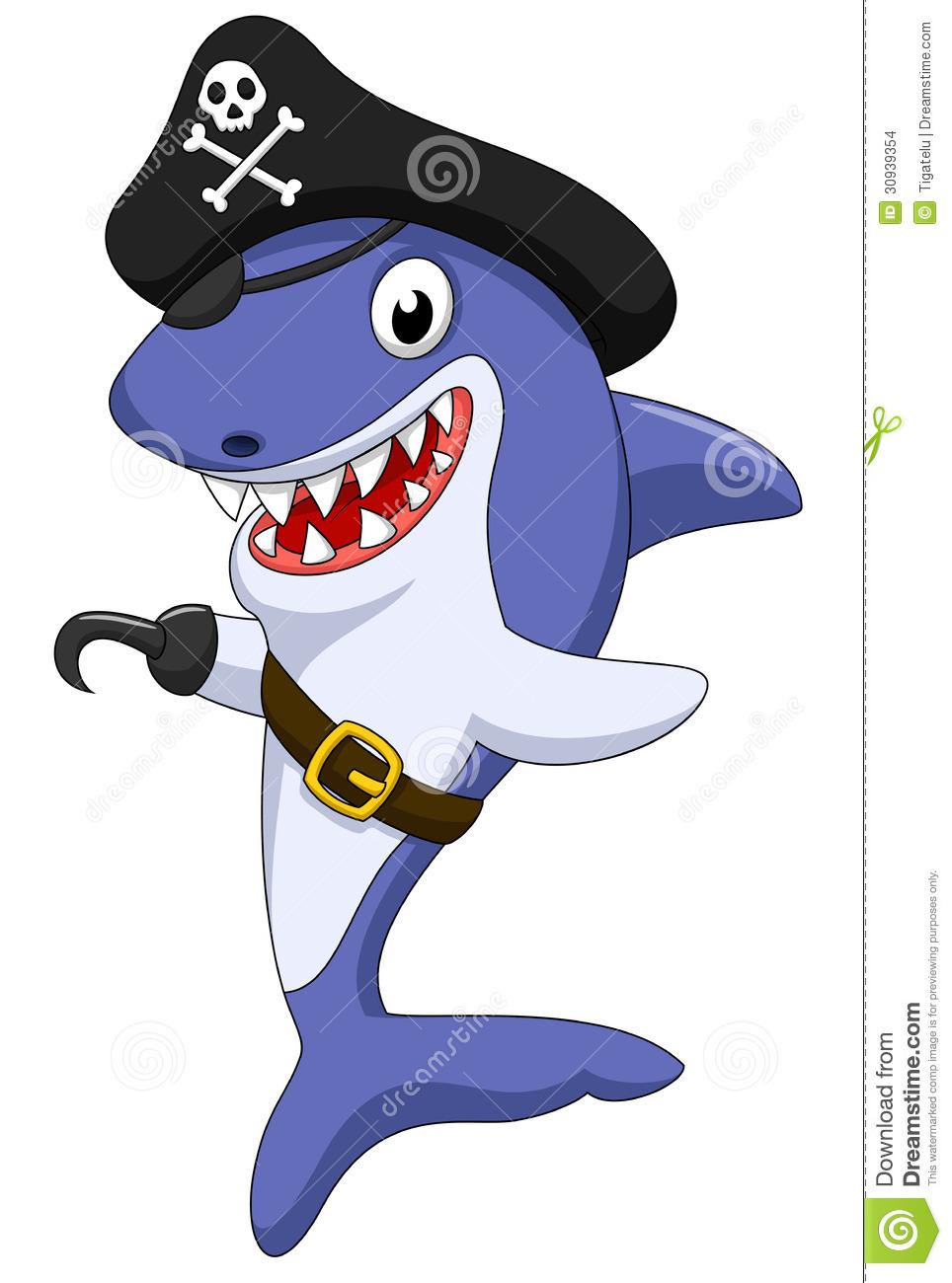 Pirate clipart shark #1