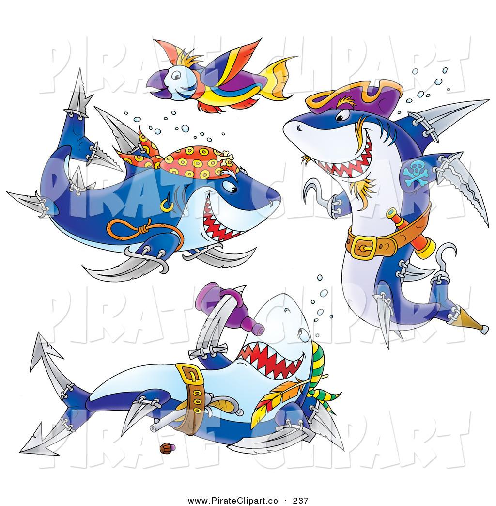 Pirate clipart shark #2